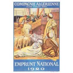 Emprunt National Compagnie Algérienne, Paris. (Affiche)